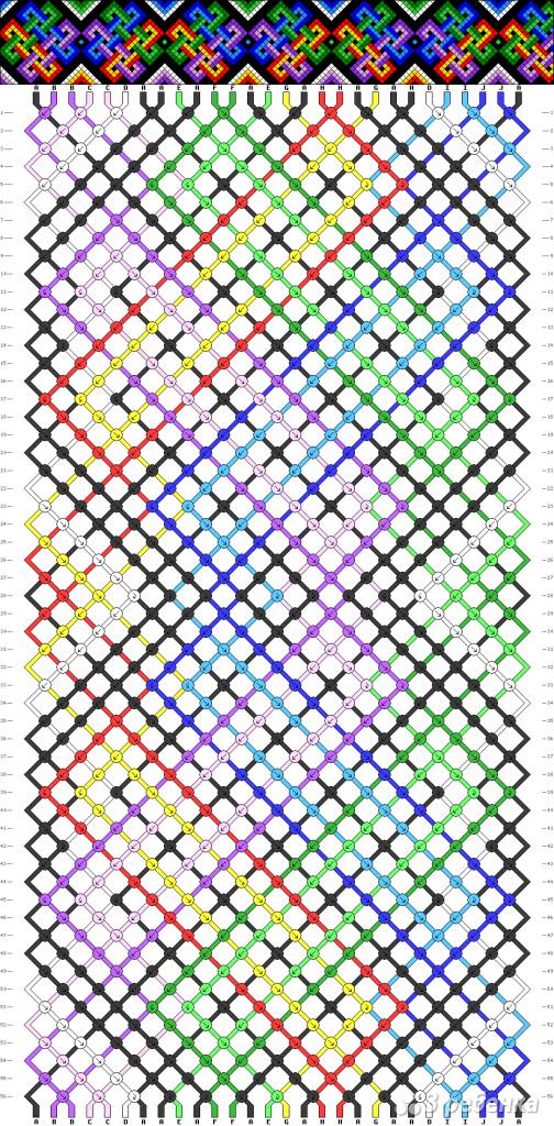 Схема фенечки 3554