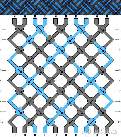 Схема фенечки 3839