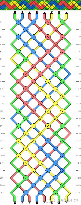 Схема фенечки 3922