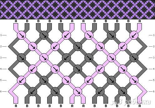 Схема фенечки 3952