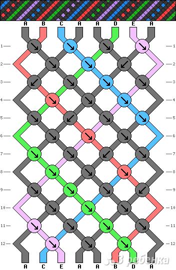 Схема фенечки 3962