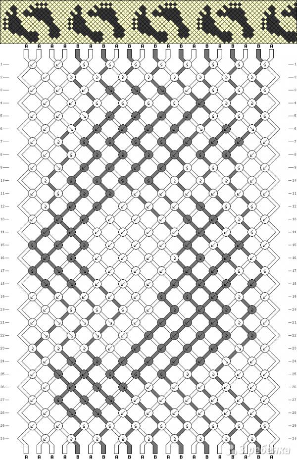Схема фенечки 3896