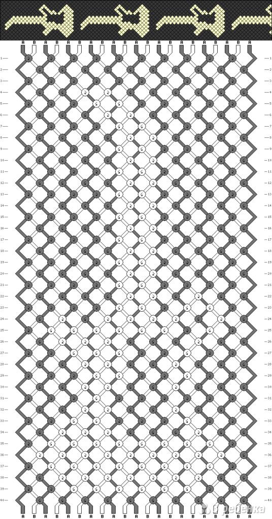 Схема фенечки 3647