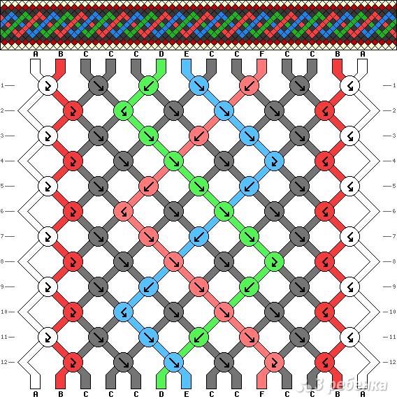 Схема фенечки 3861