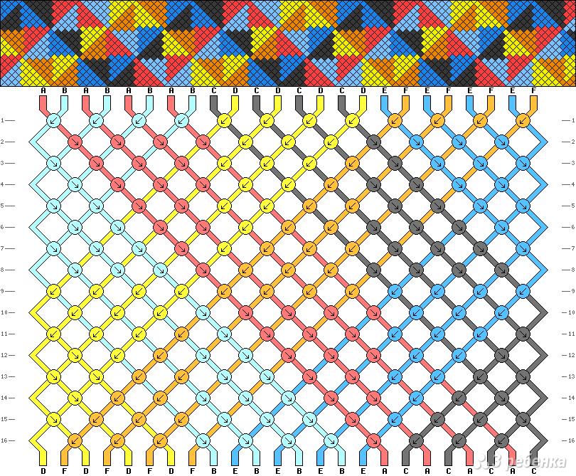 Схема фенечки для школы