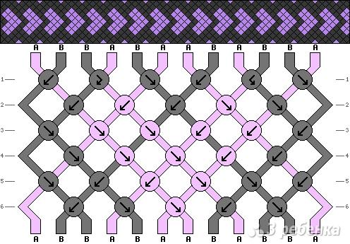 Схема фенечки 3696