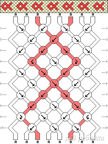 Схема фенечки 3736