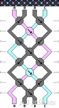 Схема фенечки 3639