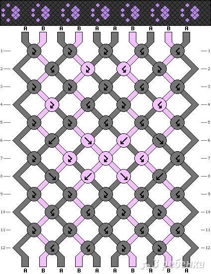 Схема фенечки 3752