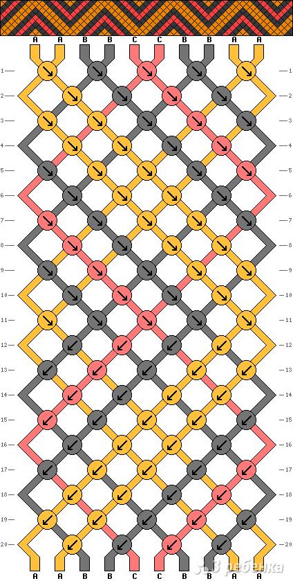 Схема фенечки 3794