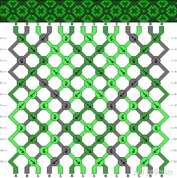 Схема фенечки 3786
