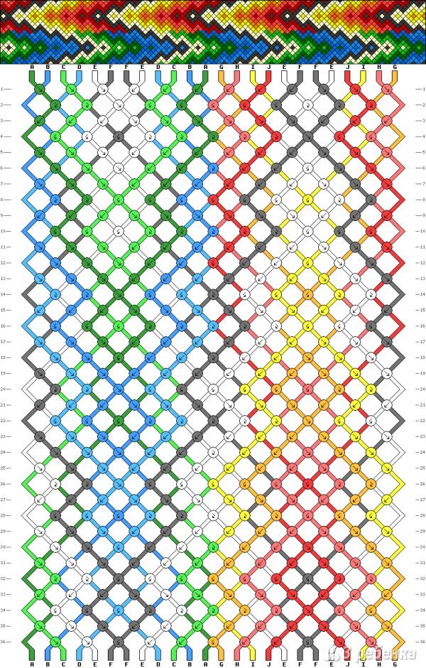 Схема фенечки 3722