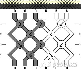 Схема фенечки 4244