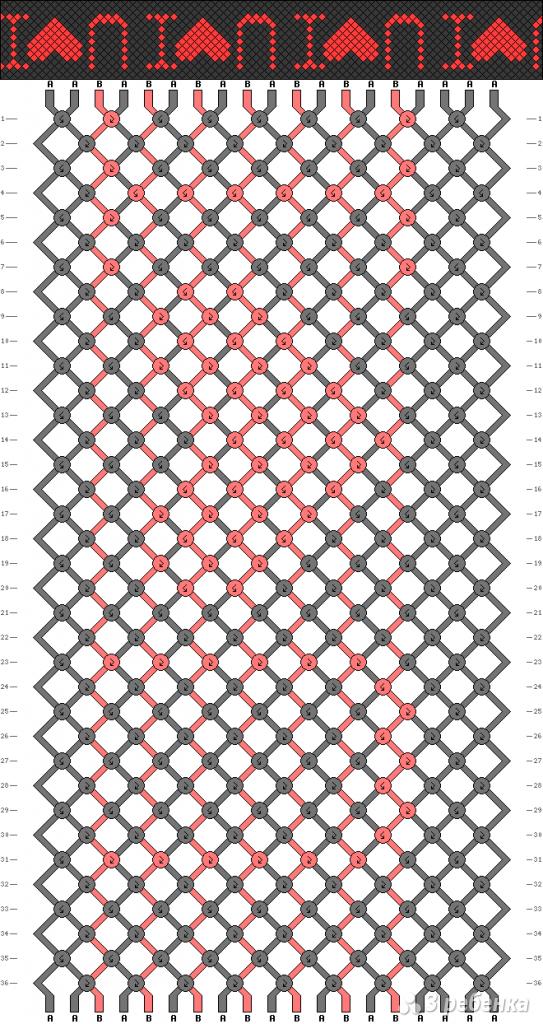 Схема фенечки 4181