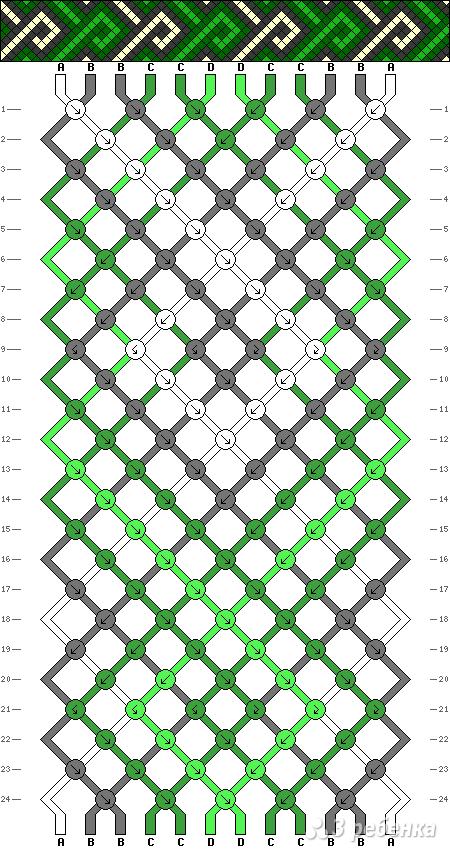 Схема фенечки 4264