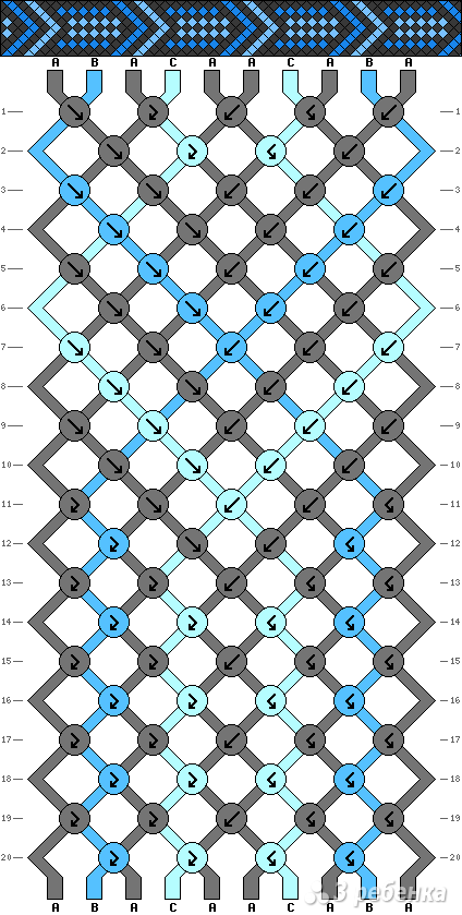 Схема фенечки 4175