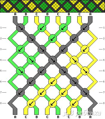 Схема фенечки 4300
