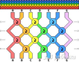 Схема фенечки 4151