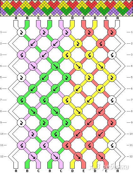 Схема фенечки 4224