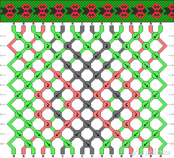 Схема фенечки 4250
