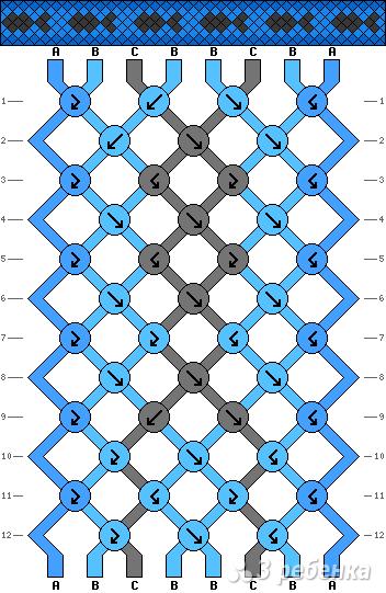 Схема фенечки 4275