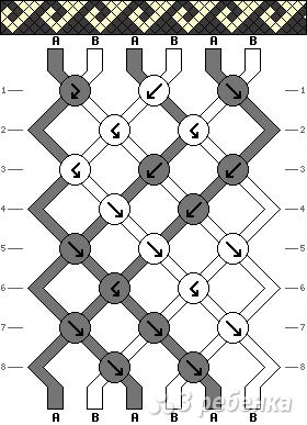 Схема фенечки 4167