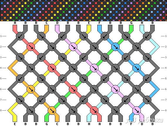 Схема фенечки 4187