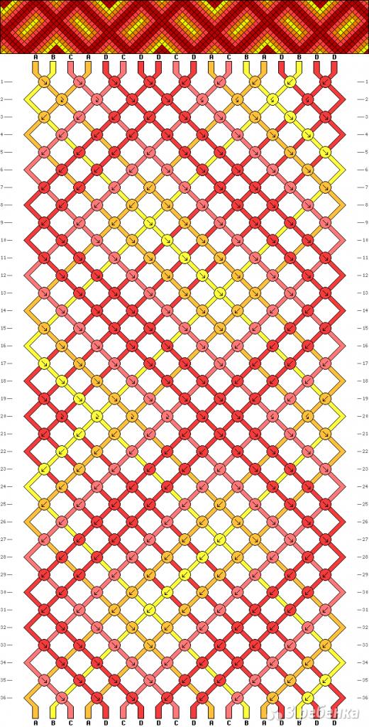 Схема фенечки 4589