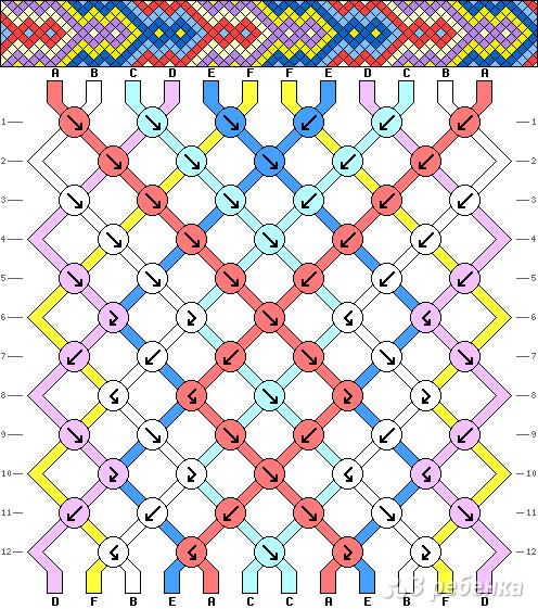 Схема фенечки 4410