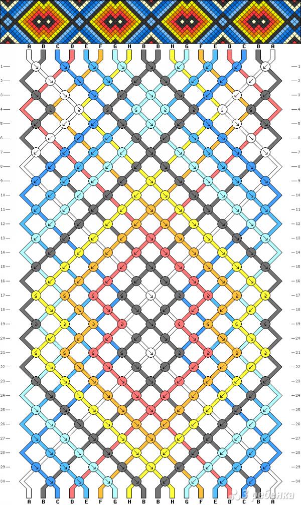 Схема фенечки 4483
