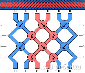Схема фенечки 4358