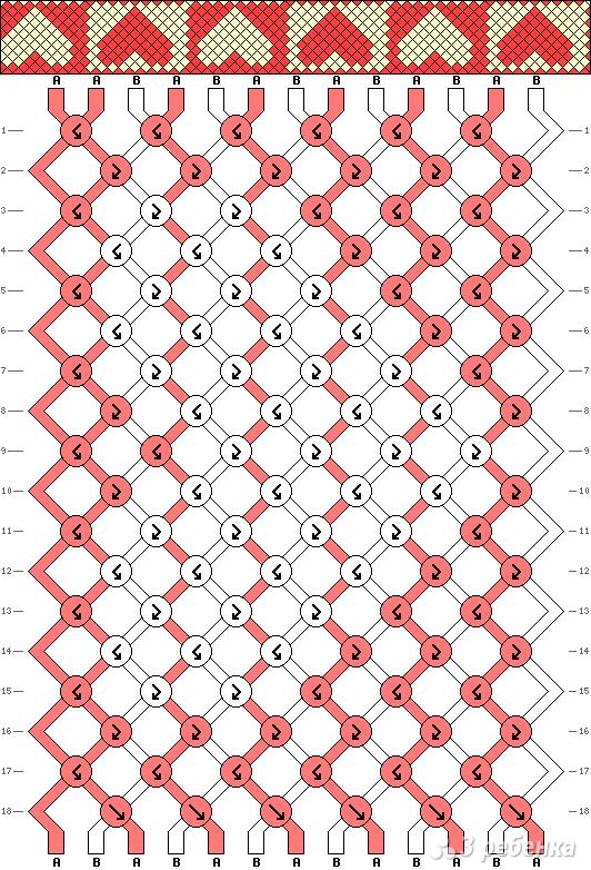 Схема фенечки 4616