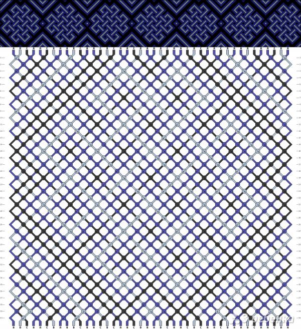 Схема фенечки 4438