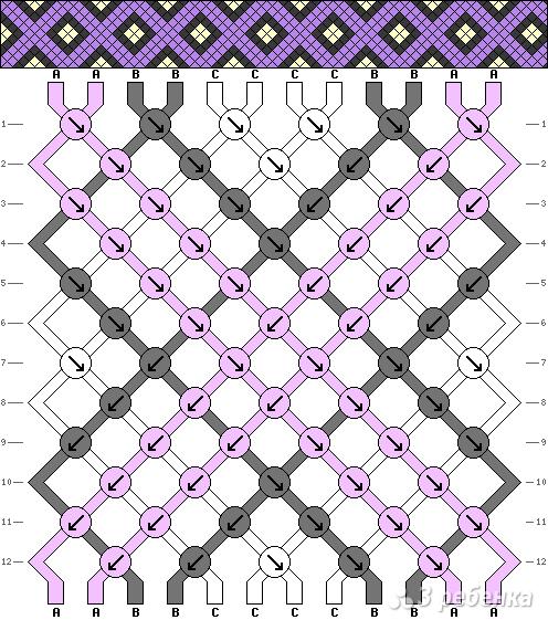 Схема фенечки 4597