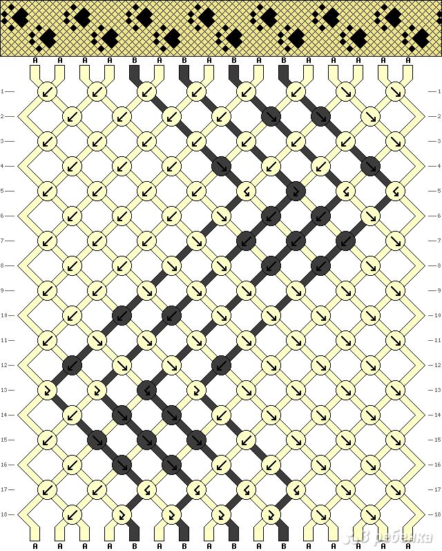 Схема фенечки 4494