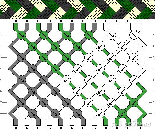 Схема фенечки 4556