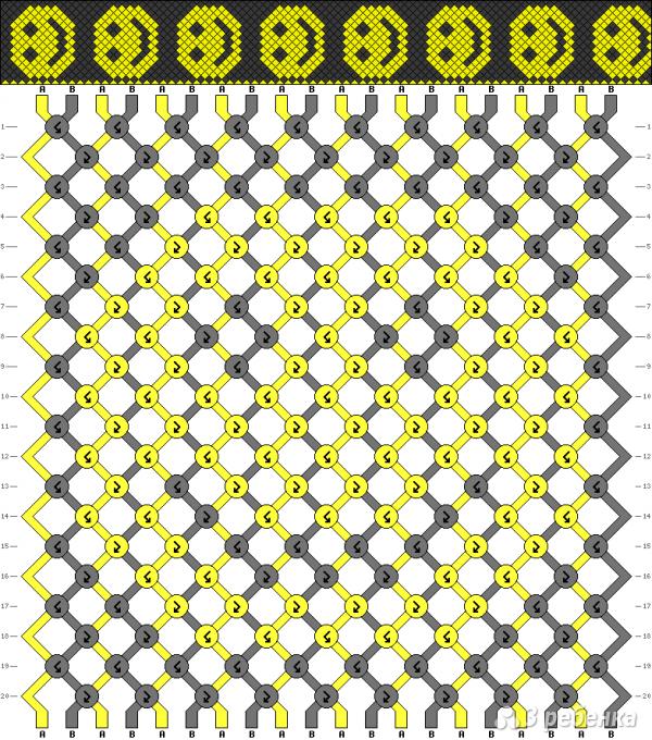 Схема фенечки 4476