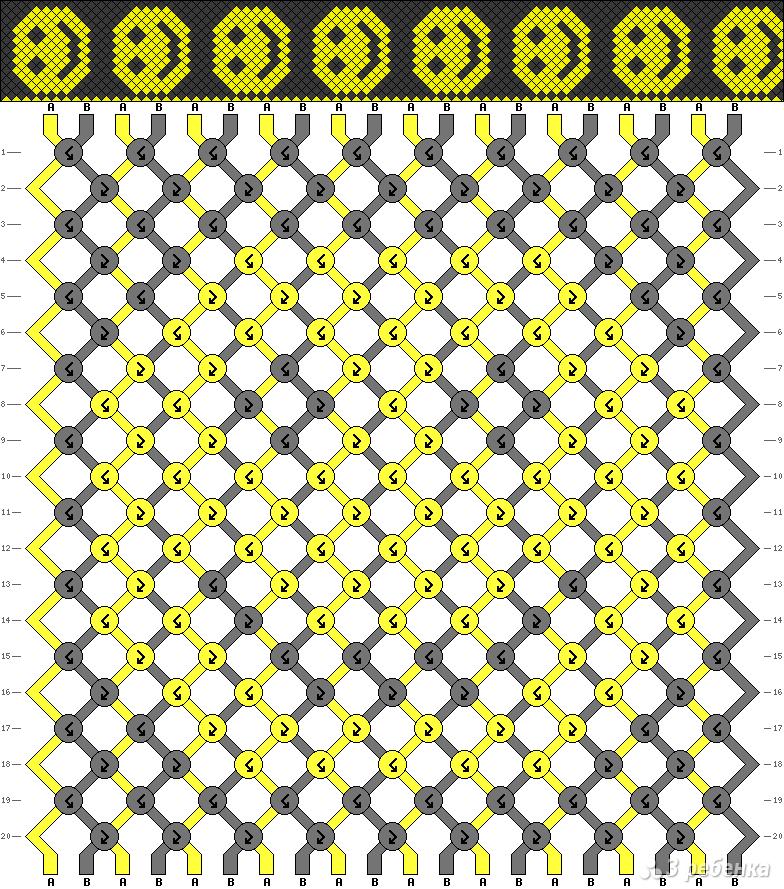 Схемы для фенечек смайлы