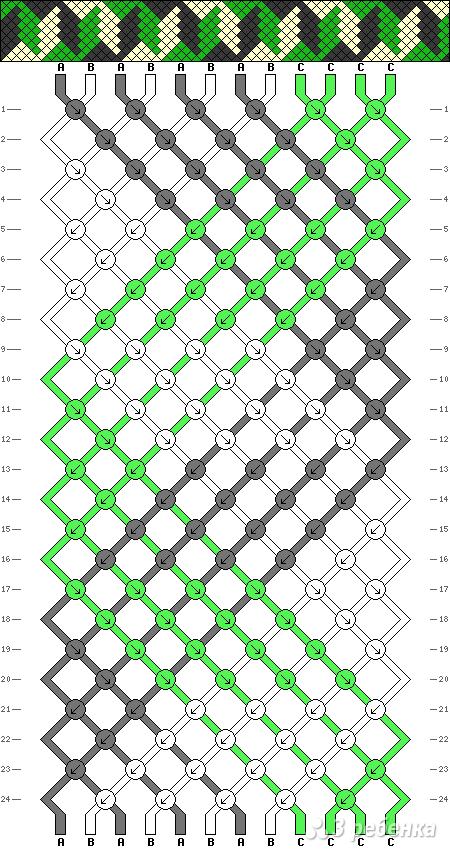 Схема фенечки 4324