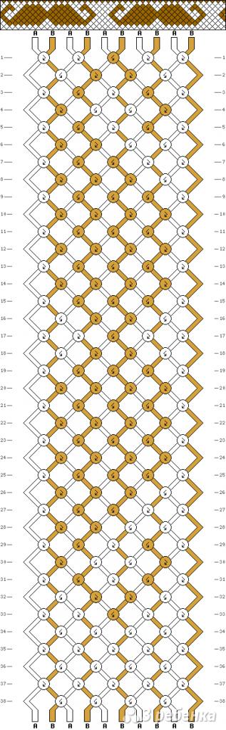 Схема фенечки 4575