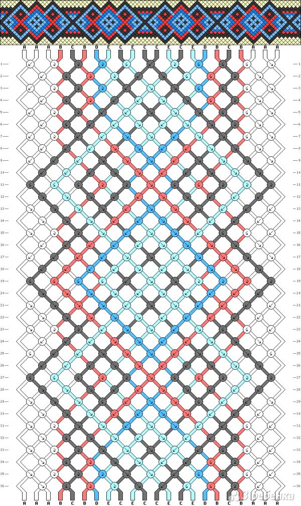 Схема фенечки 4637