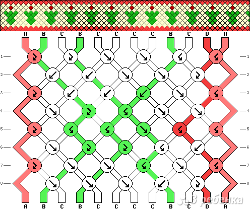 Схема фенечки 4380