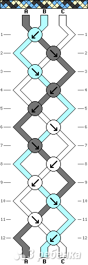Схема фенечки 4392