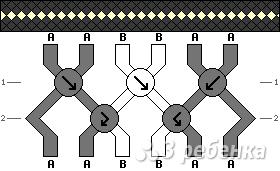 Схема фенечки 4464