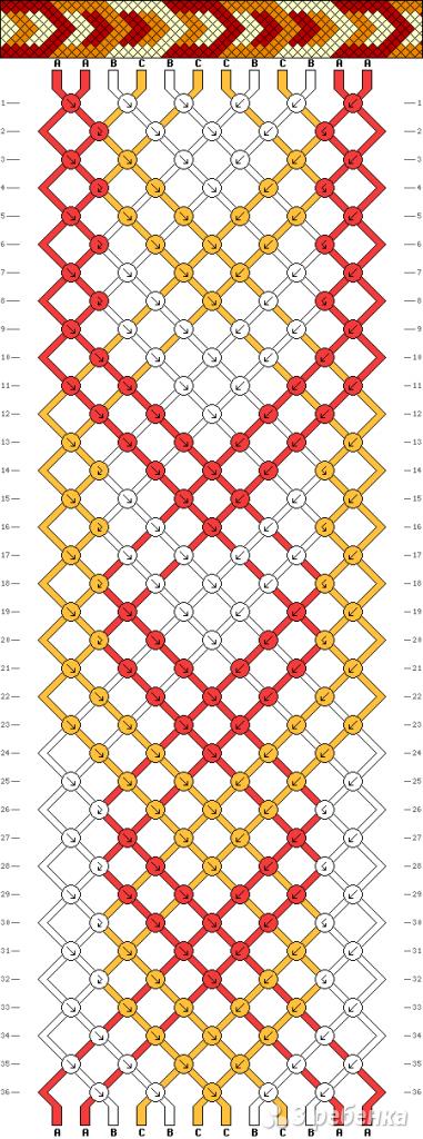 Схема фенечки 4430