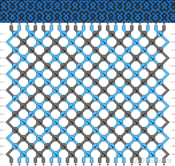 Схема фенечки 4655