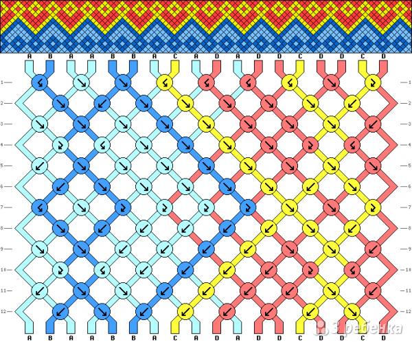 Схема фенечки 4893