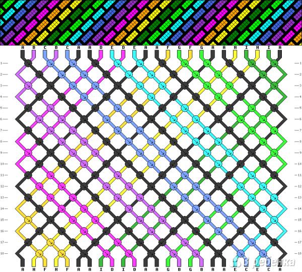 Схема фенечки 4909