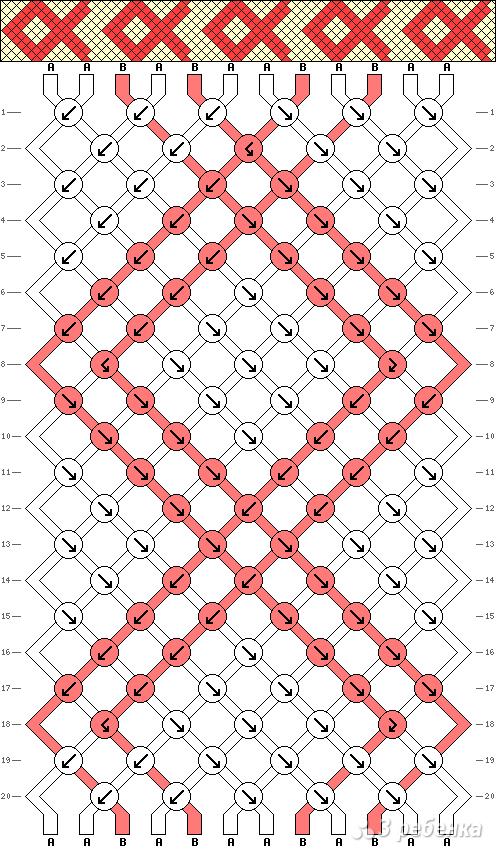 Схема фенечки 4752