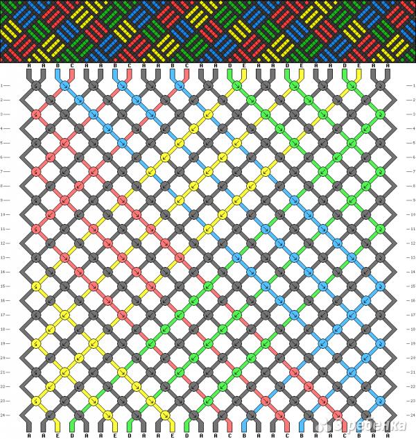 Схема фенечки 4851